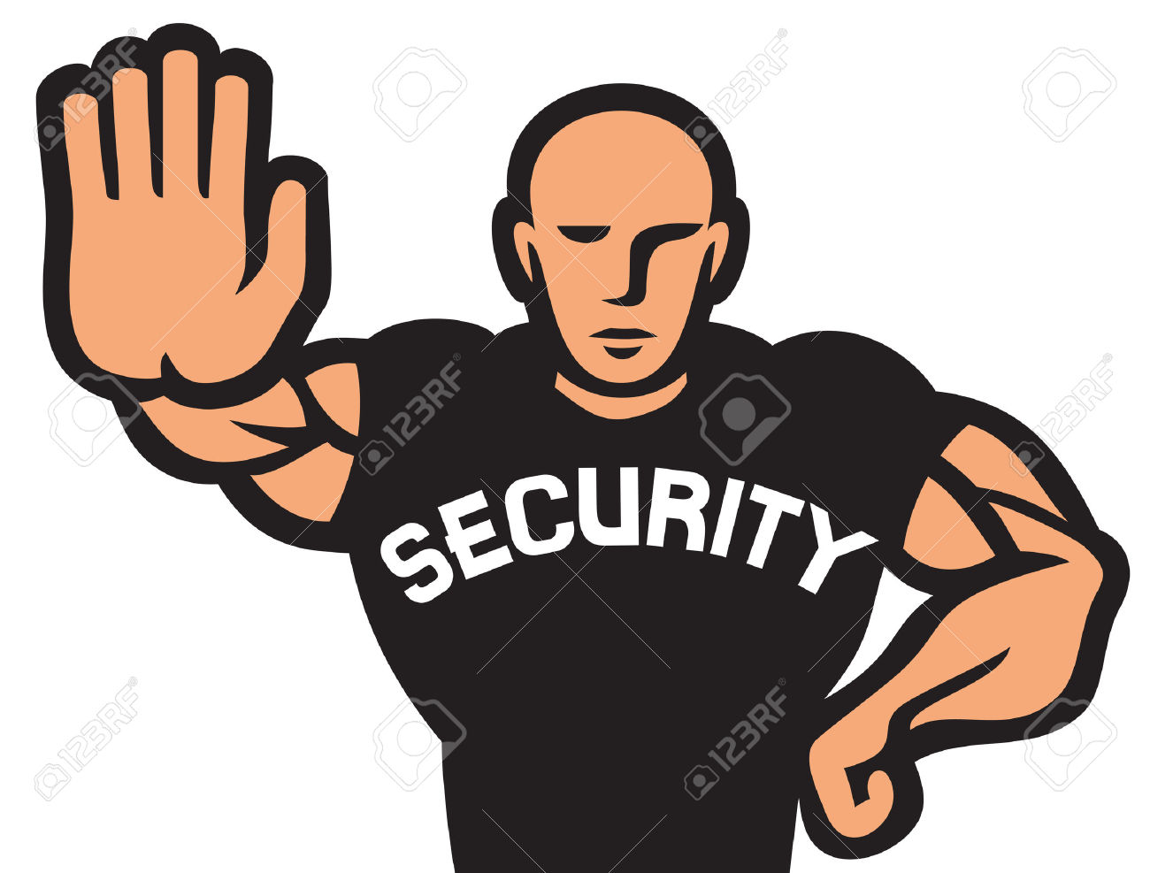 Zoo clipart guard Of Guard Cartoon Security Man