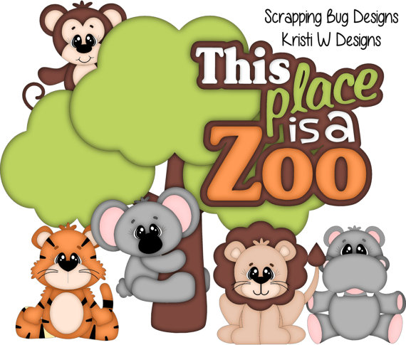 Zoo clipart layout Piecing order to paper