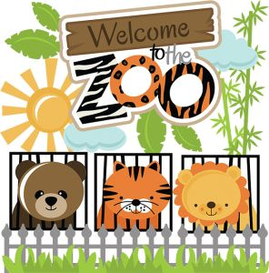 Zoo clipart layout Images Pinterest scrapbooking ZooSilhouette Files