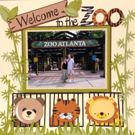 Zoo clipart layout Silhouette Kate miss cuttables cuttables