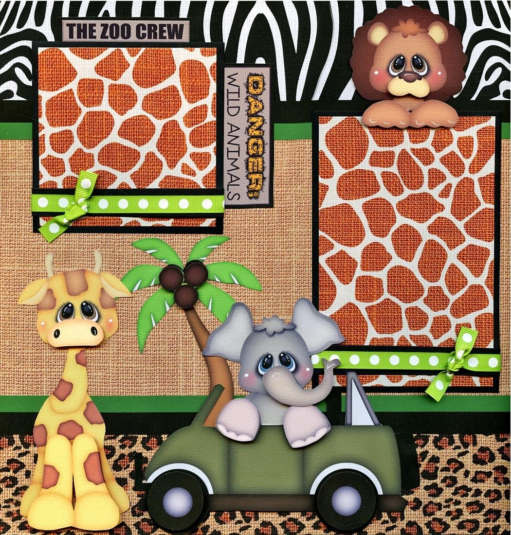 Zoo clipart layout ZOO scrapbook paper • CHERRY