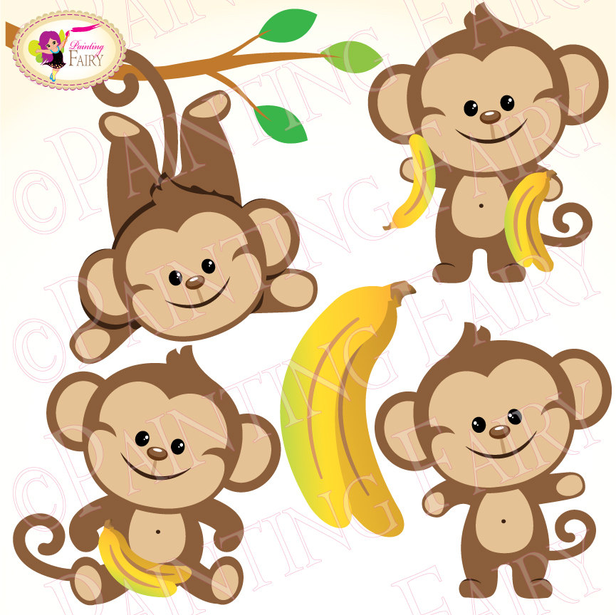 Zoo clipart layout Personal pf00015 commercial layout bananas