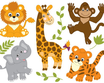 Zoo clipart lion tiger Animals Zoo Clipart OFF SALE