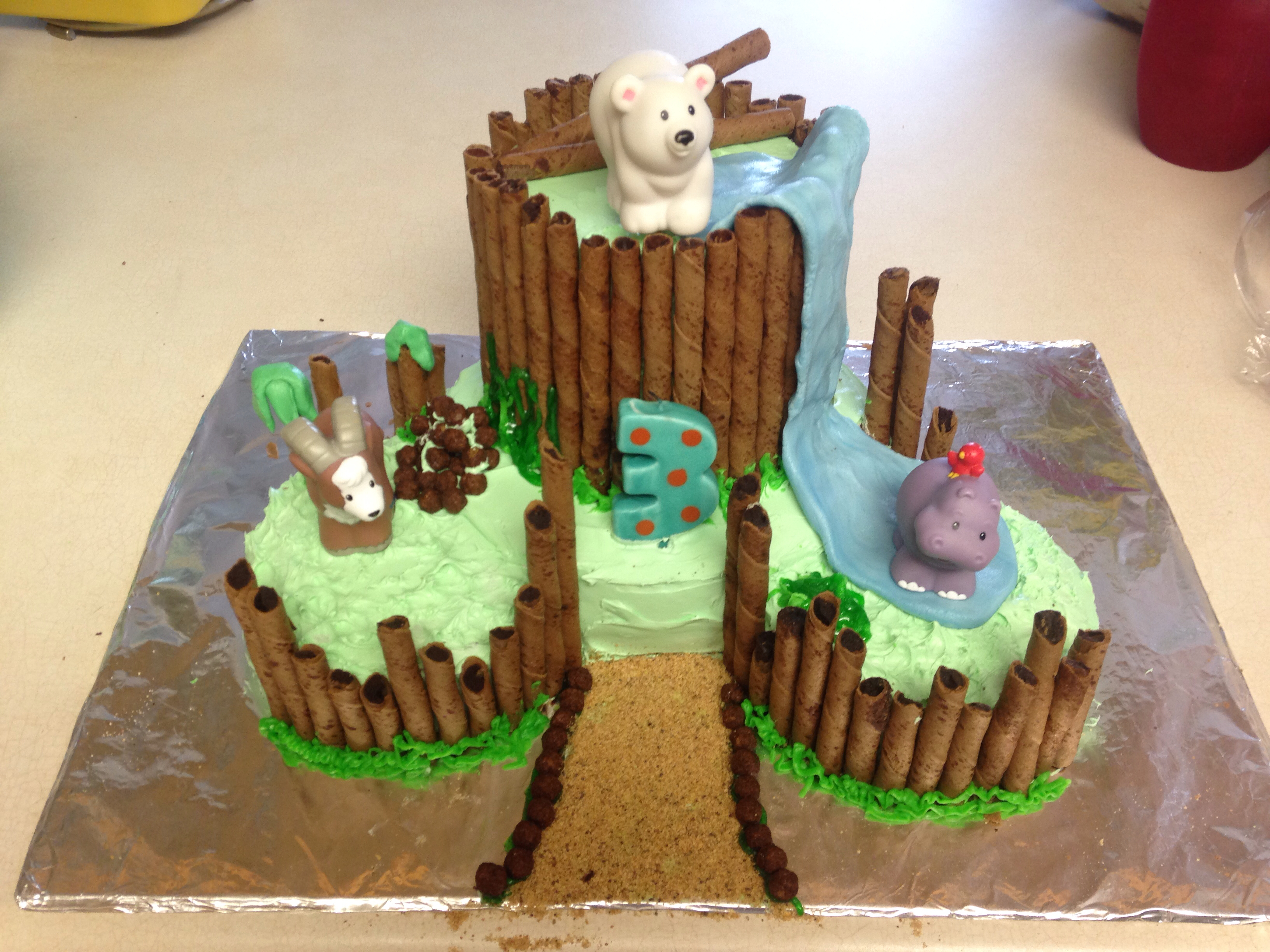 Zoo clipart pathway Birthday a fondant cookies cake!
