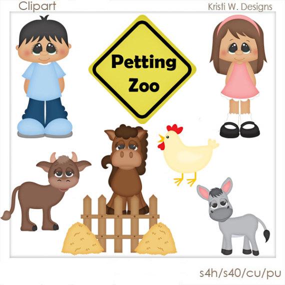 Zoo clipart petting zoo Petting SCRAPBOOKING  DIGITAL Zoo