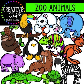 Zoo clipart place Zoo Animal Animal {Creative Clipart}