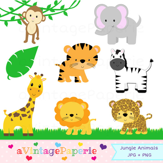 Zoo clipart place AVintagePaperie Jungle Zoo animal Clip