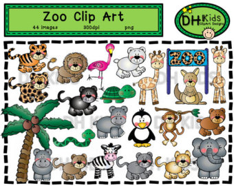 Zoo clipart place Zoo Clip Instant Digital clip