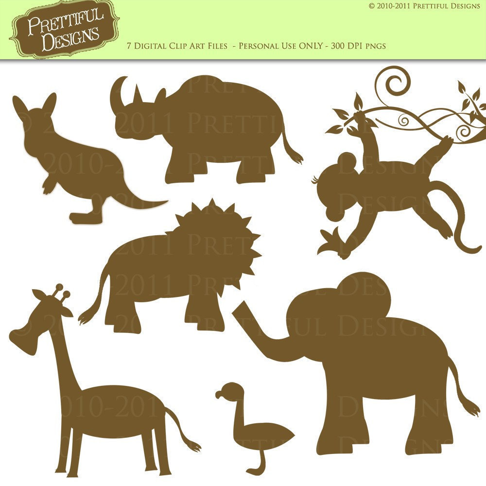 Zoo clipart simple animal Use Animal Art Silhouette this