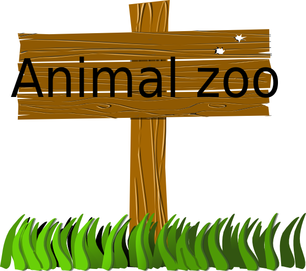 Zoo clipart small animal  PNG: Clker Sign com