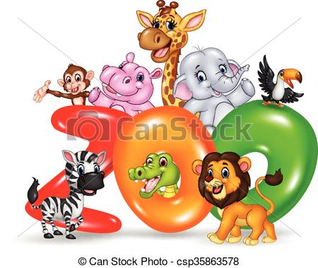 Zoo clipart the word With Word of zoo wild