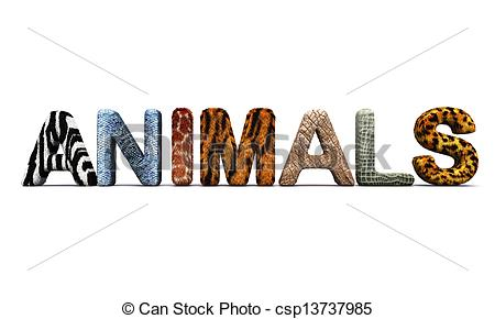 Zoo clipart the word ANIMALS Illustration of ANIMALS letters