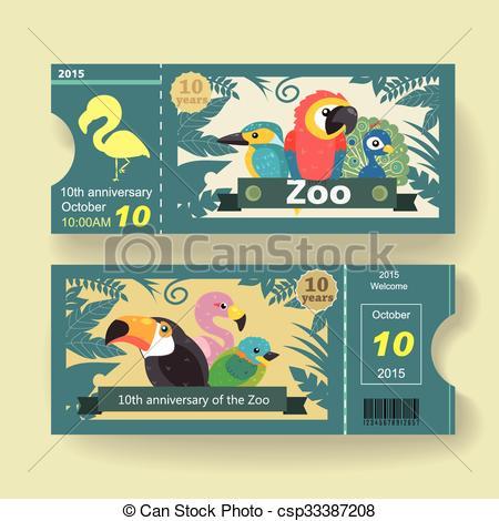 Zoo clipart ticket counter Anniversary anniversary design  design