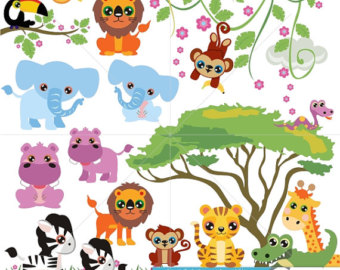 Zoo clipart together Parade Clip Animal Clipart by