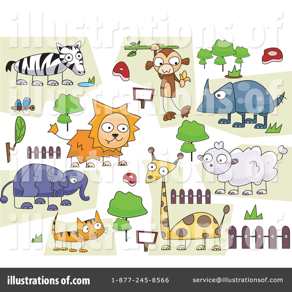 Zoo clipart together (RF) #1068597 by Illustration Zoo