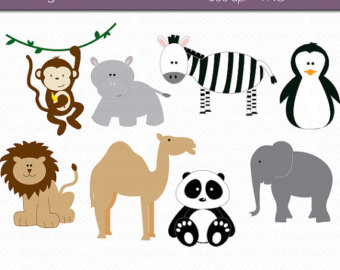 Zoo clipart together Zoo Digital Etsy Art DOWNLOAD