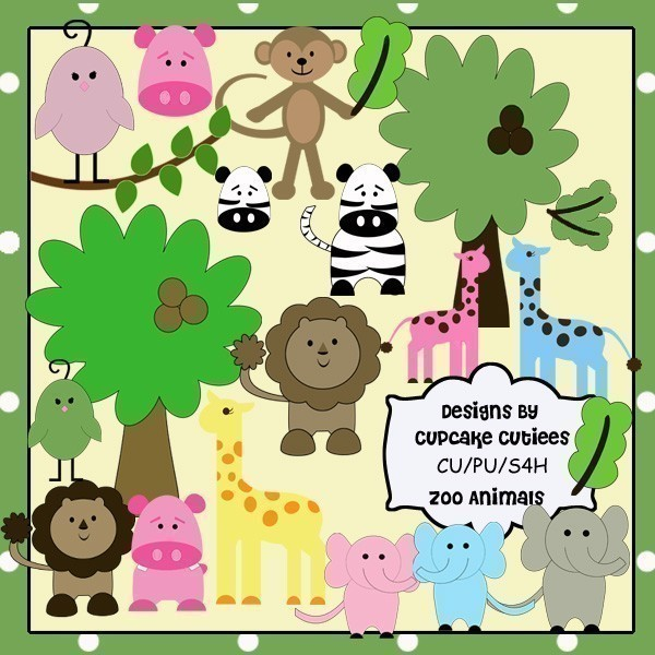 Zoo clipart together In Cages Clipart cages In