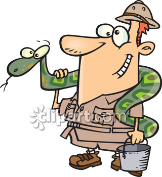 Zoo clipart trainer People pythons carry boa python