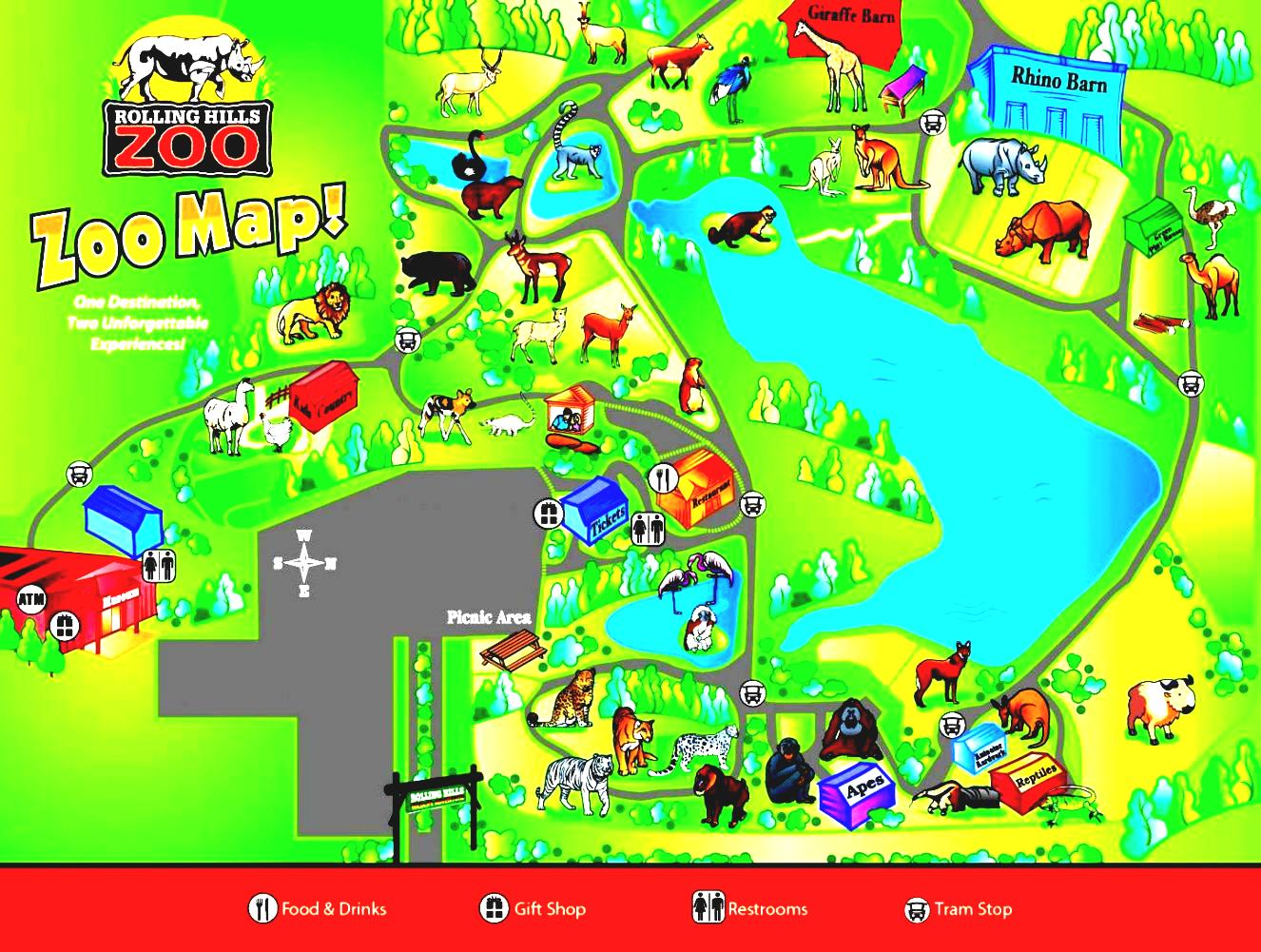 Zoo clipart zoo map Maps Adventure Hills  White