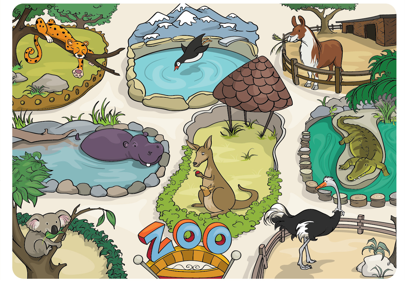 Zoo clipart zoo map Legend below design and steps