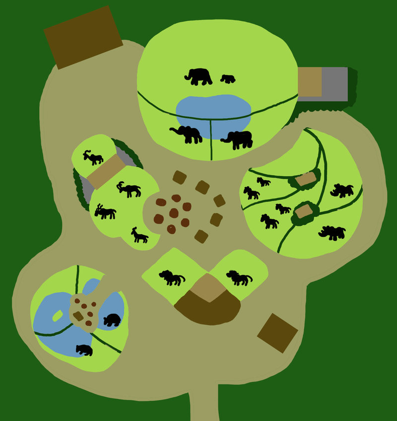Zoo clipart zoo map Bovidaeloony by Zoo Map bovidaeloony