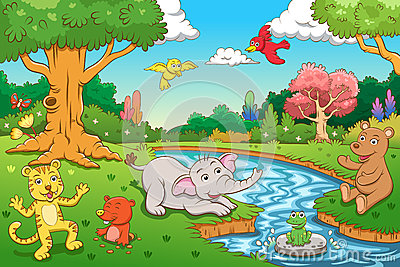 Scenery clipart jungle scenery #2