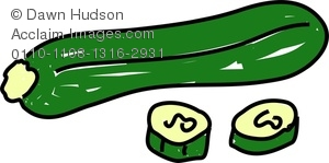Zucchini clipart cartoon Image Whimsical a A Drawing