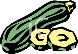 Zucchini clipart cartoon Art Slices Green Zucchini and