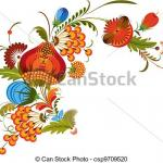 Vector Clipart of Traditional Bunch Flowers Isolated - Bouquet of ...