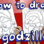How To Draw Godzilla - YouTube