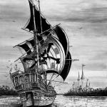 Pirate Ship Drawing Tumblr