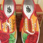 Custom vans shoes rose | Etsy