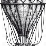 Vintage hand drawn engraving air balloon, 36844, download royalty ...