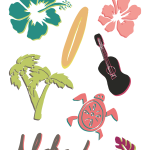 Leis with M&M's® and Hawaiian Clip art - Designs By Miss Mandee
