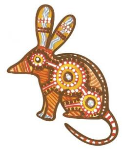 Aborigines clipart desert animal