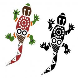 Aborigines clipart gecko
