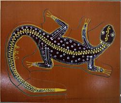 Aboriginal clipart goanna