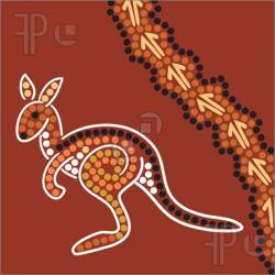 Drawn kangaroo aboriginal kangaroo