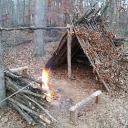 Bonfire clipart survival shelter