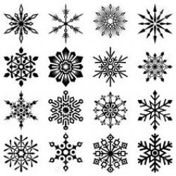 Drawn snowflake
