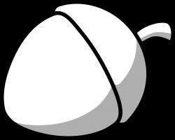 Chestunt clipart acorn