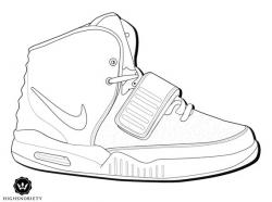 Drawn sneakers