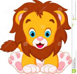 Small clipart cute lion