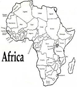 Drawn map africa