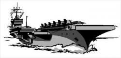 Aircraft Carrier clipart black and white