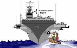 Aircraft Carrier clipart cartoon