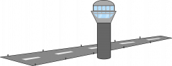 Airport clipart airport runway