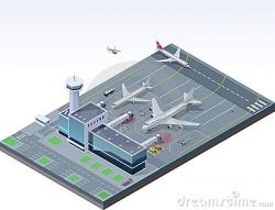 Airfield clipart