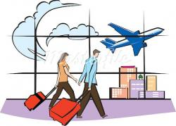 Airfield clipart airport check in