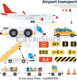 Airfield clipart background